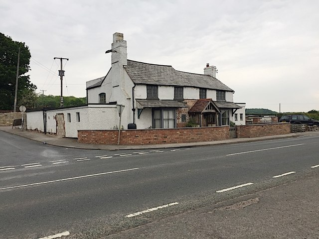 The former 'Dun Cow' pub by the A3400