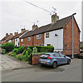 SK6266 : Edwinstowe: cottages on Mill Lane by John Sutton