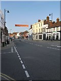 TQ1649 : Dorking: the High Street - view from the corner of Mill Lane by Stefan Czapski