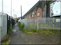 SE2932 : Footpath to the city, Bridge Road, Holbeck, Leeds by Humphrey Bolton