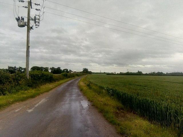 Lane south at Knodishall Green