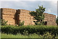 SP7017 : Hay stack by The A41, Westcott by David Howard