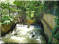 TQ0374 : Weir on the Colne, Stanwell Moor by Des Blenkinsopp