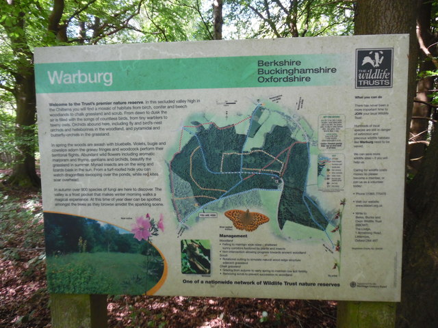 Information Board at Warburg Nature Reserve (1)
