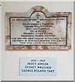 TM3193 : War memorials inside St Peter's Church, Hedenham by Helen Steed