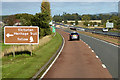 NO6466 : A90 near to North Water Bridge by David Dixon