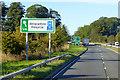 NO6365 : Southbound A90 near Stracathro by David Dixon