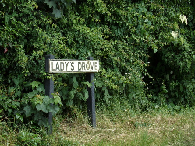 Lady's Drove sign