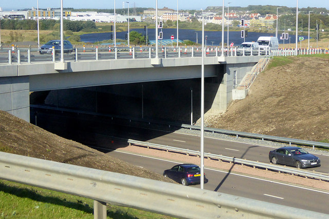 Bridge over the A92, Charlestown Flyover