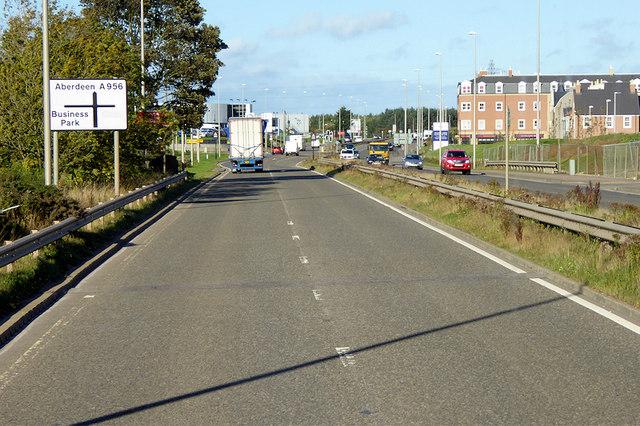 A956 towards Aberdeen