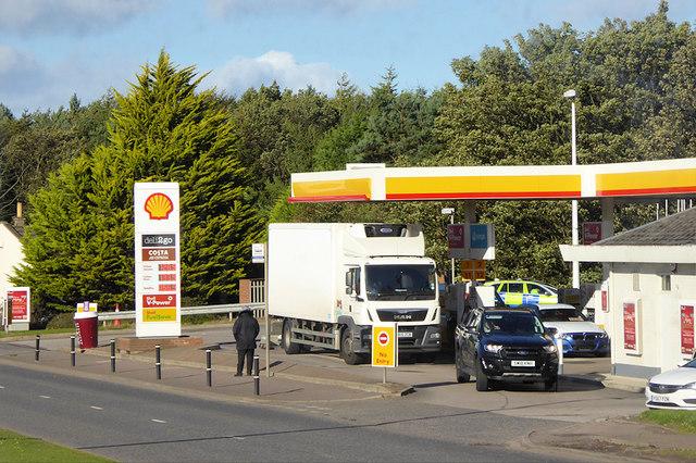 Shell Garage on Wellington Road