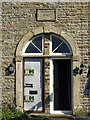 NY9038 : Cottages at the foot of Scutterhill Bank - doors by Mike Quinn