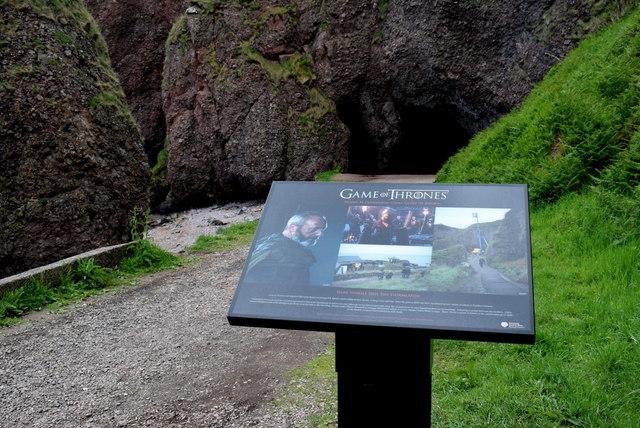 Game of Thrones notice board, Cushendun