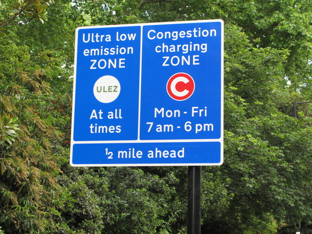 Sign for London ultra low emission zone