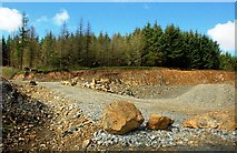 NS3301 : Quarry on Knockinculloch by Mary and Angus Hogg