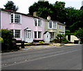 SY3392 : Pink cottage, Uplyme Road, Lyme Regis by Jaggery