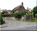 SY3392 : Thatched roof cottages, Woodroffe Meadow, Lyme Regis by Jaggery