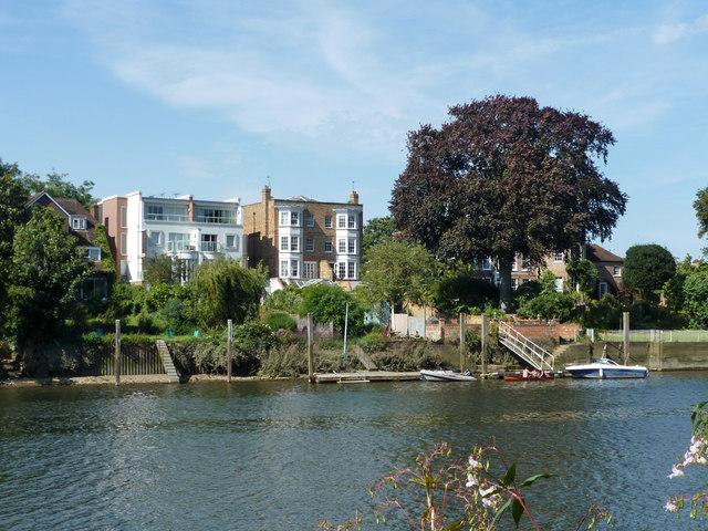 Houses overlooking River Thames