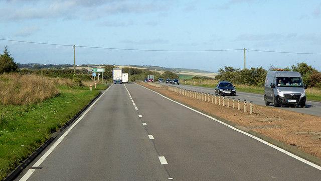 A92 towards Bridge of Muchalls,