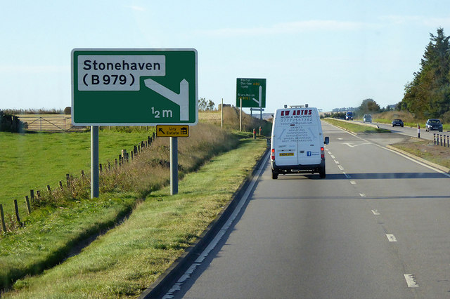 A92 north of Stonehaven