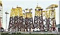 J3575 : Wind turbine parts, Harland & Wolff, Belfast  -  June 2019(1) by Albert Bridge