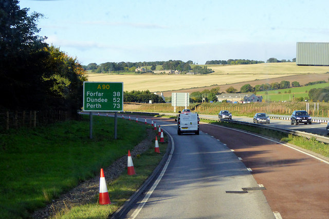 Southbound A90 near Stonehaven