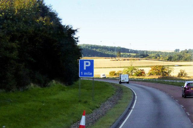 Southbound A90 near to Redcloak