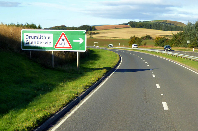 Southbound A90 near to Drumlithie