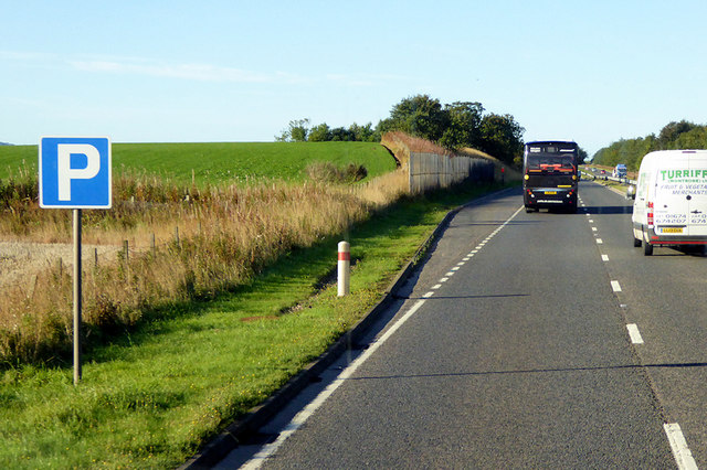 Layby on the Southbound A90 near to Mondynes