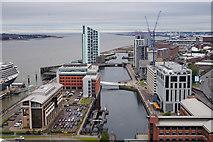 SJ3390 : Princess Dock, Liverpool by Ian S