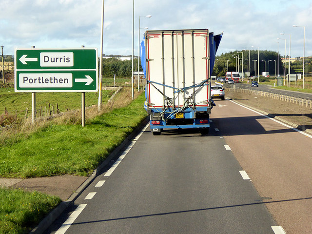 Northbound A92 near Portlethen