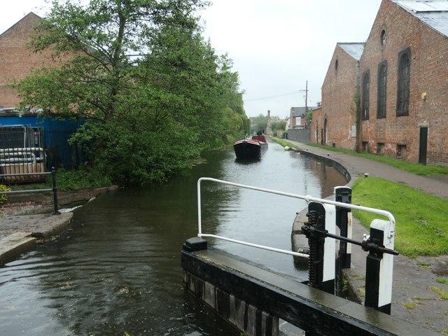 Working boat 'Bath' nearing Long Eaton Lock [no 61]
