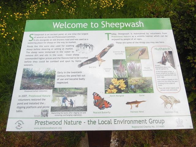 Information Board at Sheepwash Pond, Prestwood (1)
