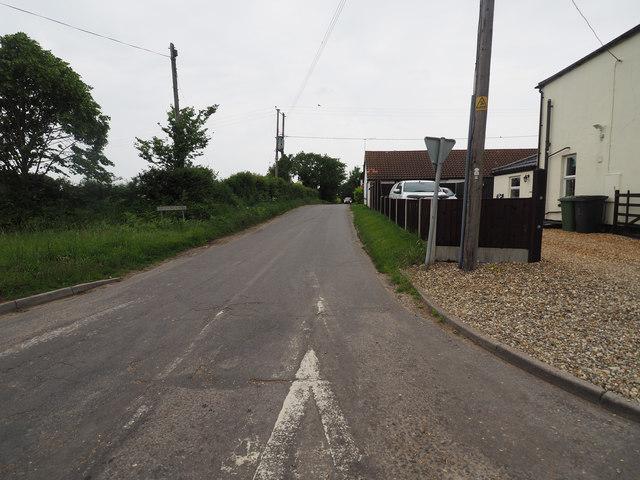 Looking down Brown's Lane