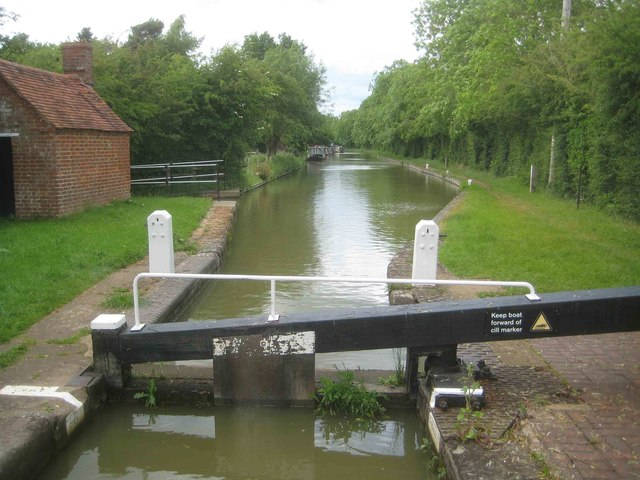 Oxford Canal: Pound upstream of Elkington's Lock Number 22