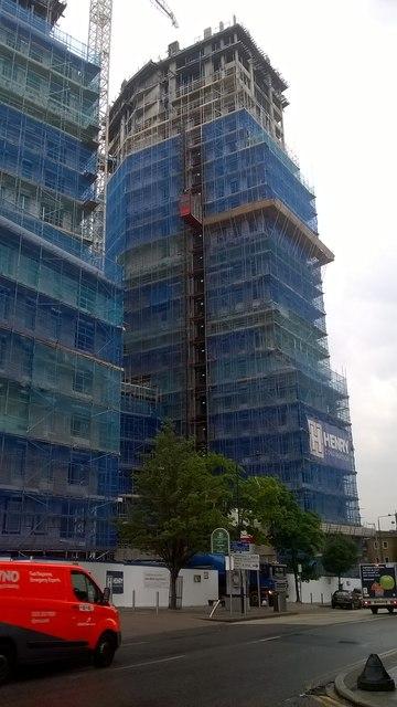 Two blocks of flat construction on Park Lane