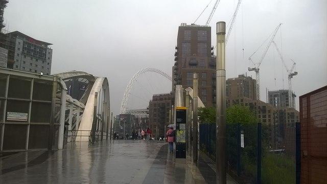 White Horse Bridge leading to Wembley Stadium