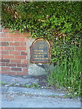 SJ1225 : Listed milestone at Green Ucha by Richard Law