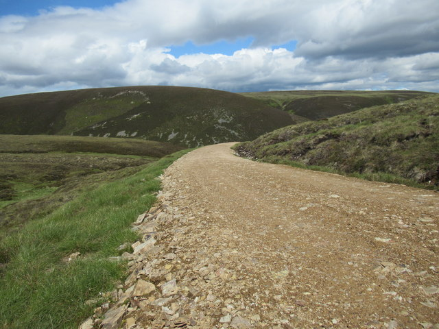 New track servicing grouse butts near Little Garvoun by Tomintoul