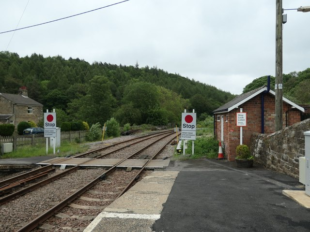 Stop signs, east end of Glaisdale Station