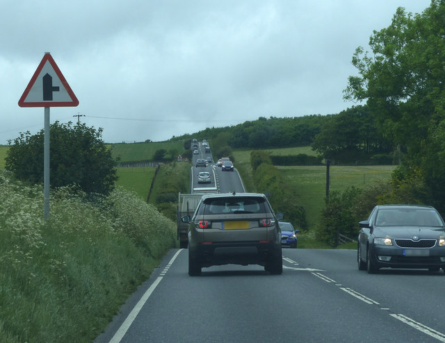 A35 approaching junction for Kingston Russell