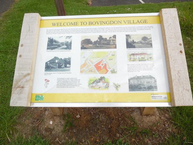 Information Board in Bovingdon