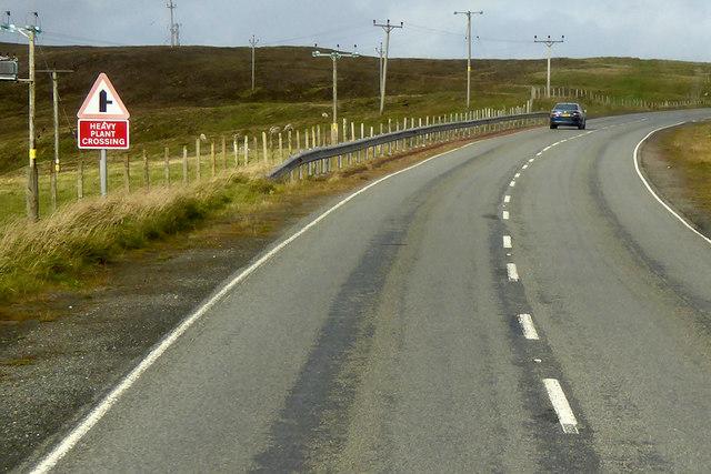 A970 towards Lerwick