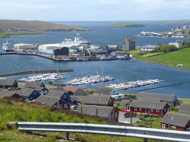 Scalloway Port and Castle