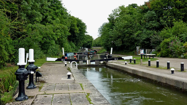 Knowle Top Lock south-east of Solihull