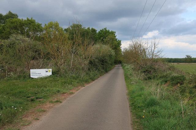 Icknield Way Trail entering Cavenham Heath