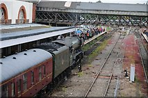 SO8555 : Flying Scotsman entering Worcester Shrub Hill Station by Philip Halling