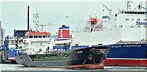 "J3475 : ""Keewhit"" and ""Stena Hibernia"", Albert Quay, Belfast harbour (June 2019) by Albert Bridge"