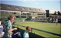 TQ2472 : Wimbledon 1988 - Court 16 by Barry Shimmon