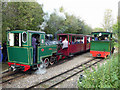 SP0432 : Toddington Narrow Gauge Railway - two engines in steam by Chris Allen